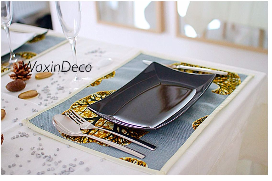 Set de table en pagne  Sweet table, Table inspiration, Wax