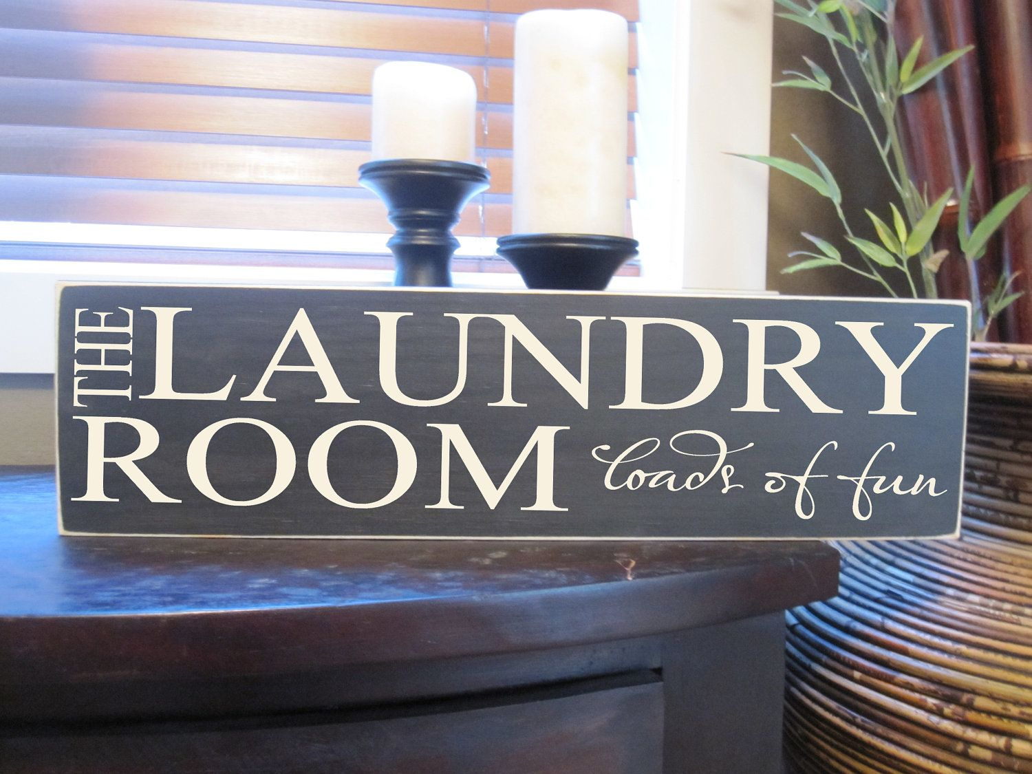 Laundry Room Wooden Signs Laundry Room Wood Sign Plaque Vinyl Lettering Gift Custom