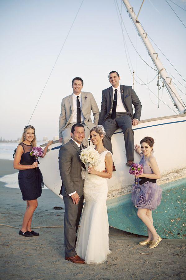 Nautical Wedding Party// Bubba-Loo Photography// www.Bubba-Loo.com