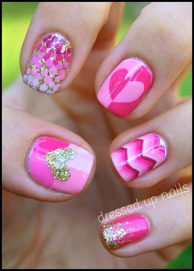Pink Nail Designs 2014 Arte De Uas Pinterest Pink Nails