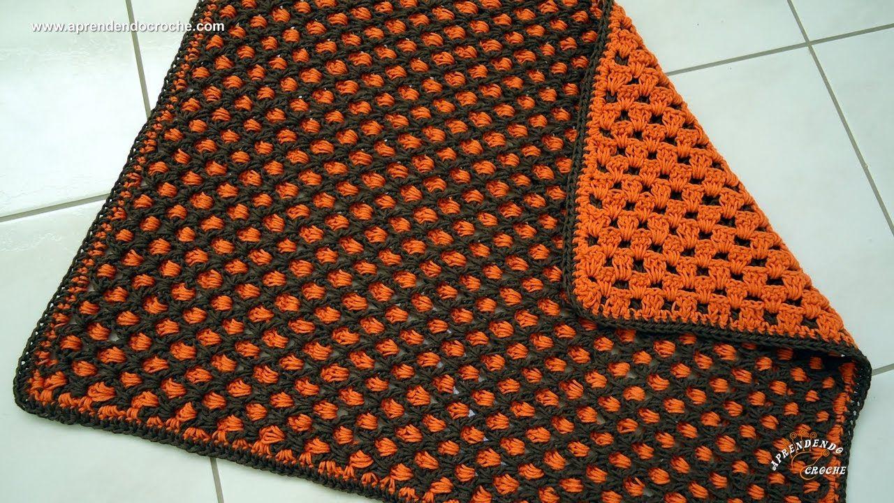 Tapete de croch dupla face aprendendo croch youtube for Tapetes de crochet
