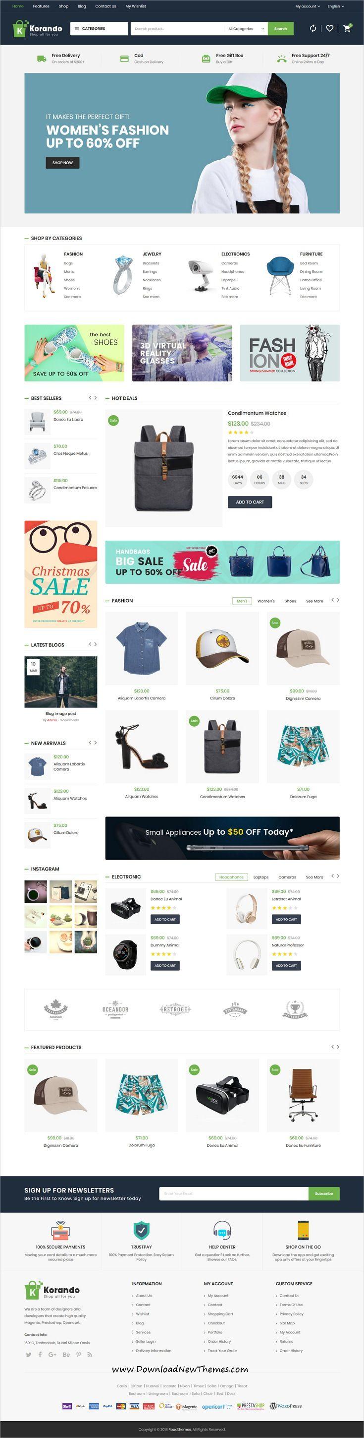 Korando Multipurpose Theme for Woo merce WordPress