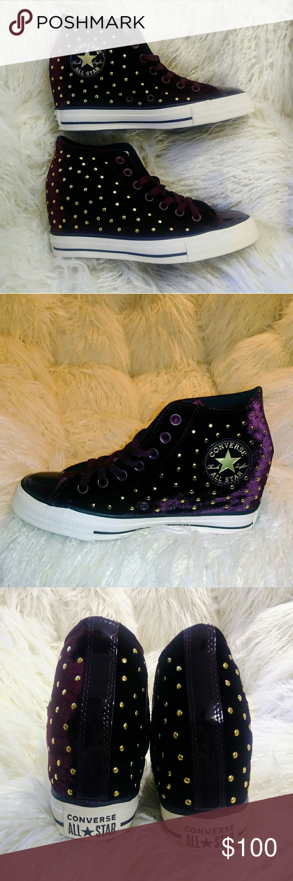 78969dd7c518 NWT Converse Chuck Taylor Lux Wedges Bootie Velvet - So sexy!!!! -