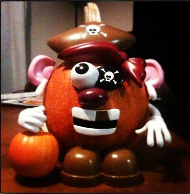 Halloween Decorated Pumpkin: Mr Potato Head