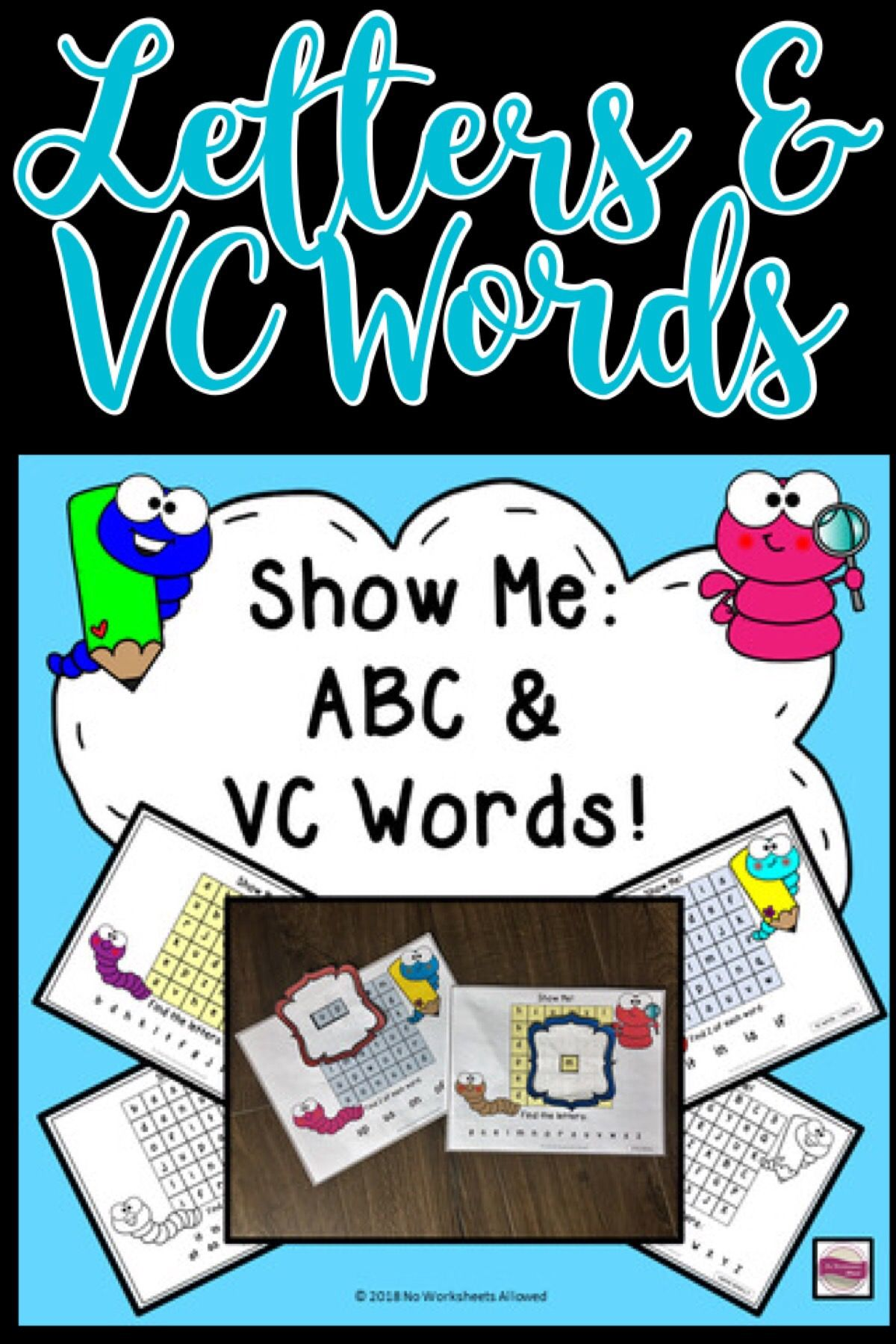 Letter Recognition And Vc Words Phonics Activity