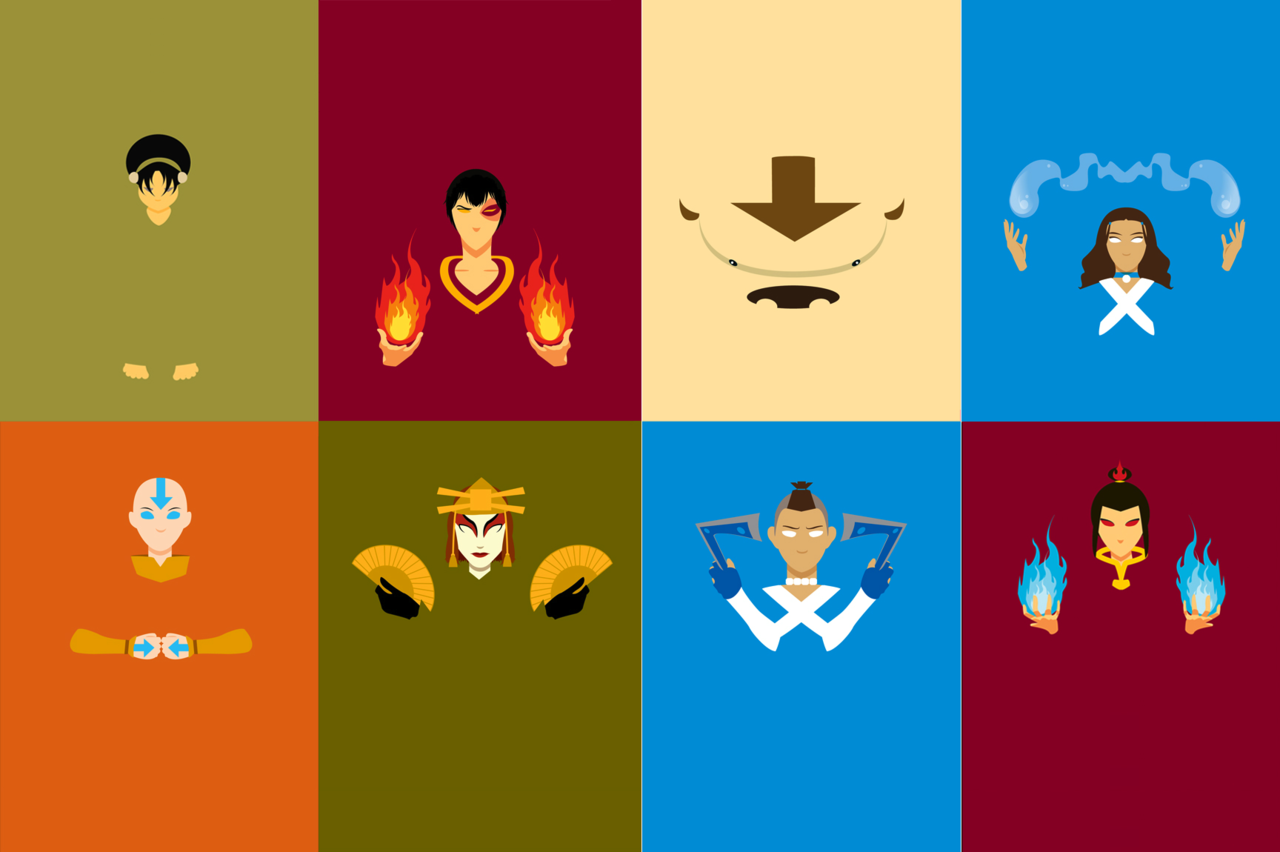 Avatar The Last Airbender Minimalist Wallpaper
