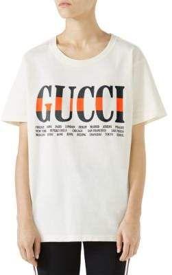 cb49778d Gucci Jersey Logo Tee More, Cropped Tank Top, Blouses, Women's Tops, Shirt