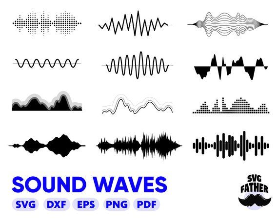 Sound Waves Svg Music Dxf Silhouette Wave Svg Audio Recording Svg Audio Wave Svg Music Waves Svg Silhouette Svg Clip Audio Waves Sound Waves Music Waves