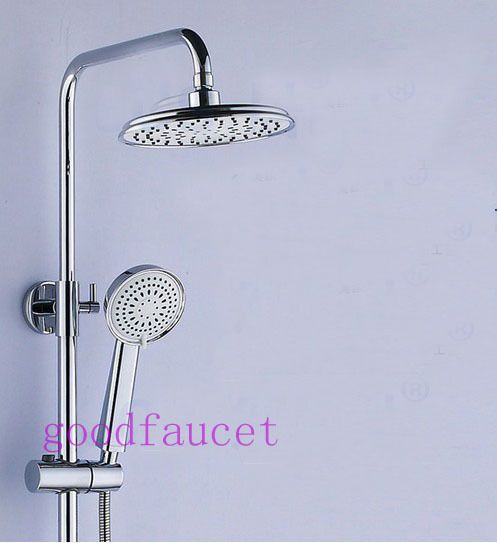 Simple Luxury Modern Shower Set Faucet Full Brass Shower Head Chrome Polished Bathroom Tub Shower Faucet Pictures - Luxury contemporary shower heads Simple