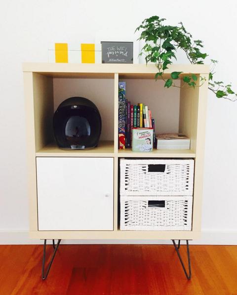 finest selection cfecf 7f93c Ikea kallax shelf hairpin legs | Living Room in 2019 | Ikea ...