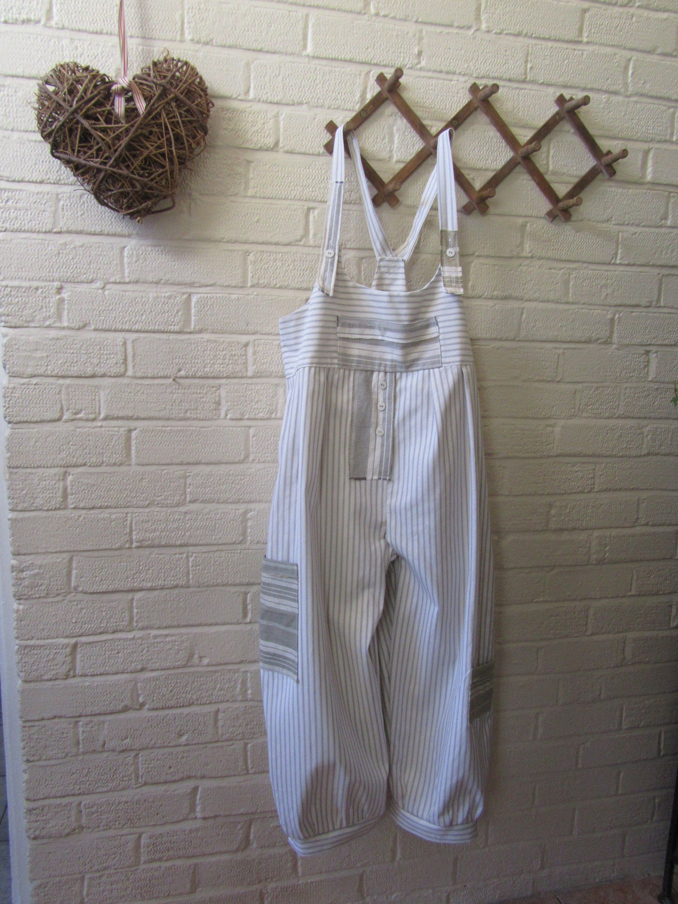 51b7fca53d79 Lagenlook quirky dropped crotch baggy dungarees