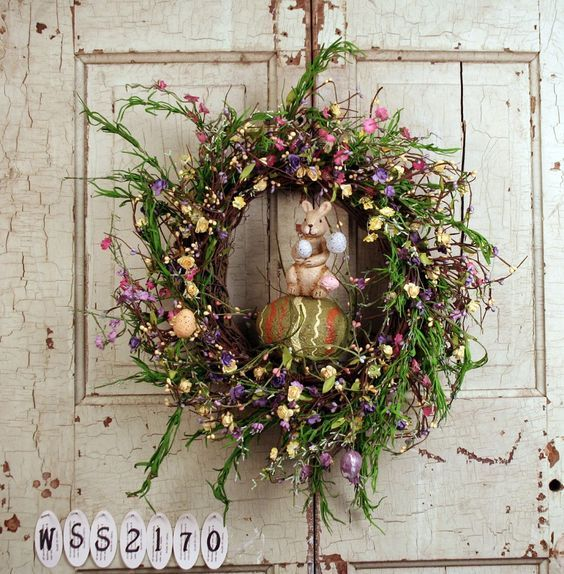 75+ Pretty DIY Easter Wreaths To Beautify Your Home | Easter ...