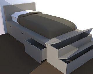 Le lit sur podium avec rangements int gr s enfant en 2019 room interior design et design - Agencement chambre enfant ...