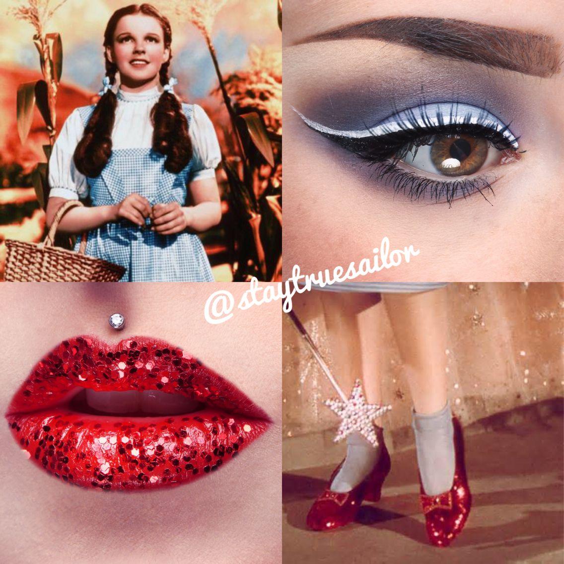 Dorothy Inspired Makeup Wizard Of Oz Dorothy Wizard Of Oz Dorothy Halloween Costume Halloween Costumes Makeup