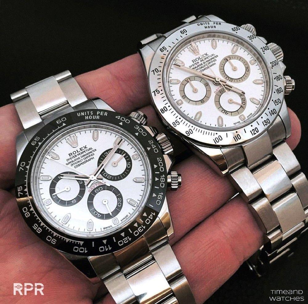 "Steel Rolex ""Panda"" Daytona Luxury watches for men"