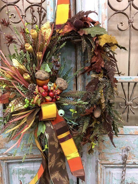 herbst kranz thanksgiving kranz herbst tur dekor diy und handwerk pinterest thanksgiving