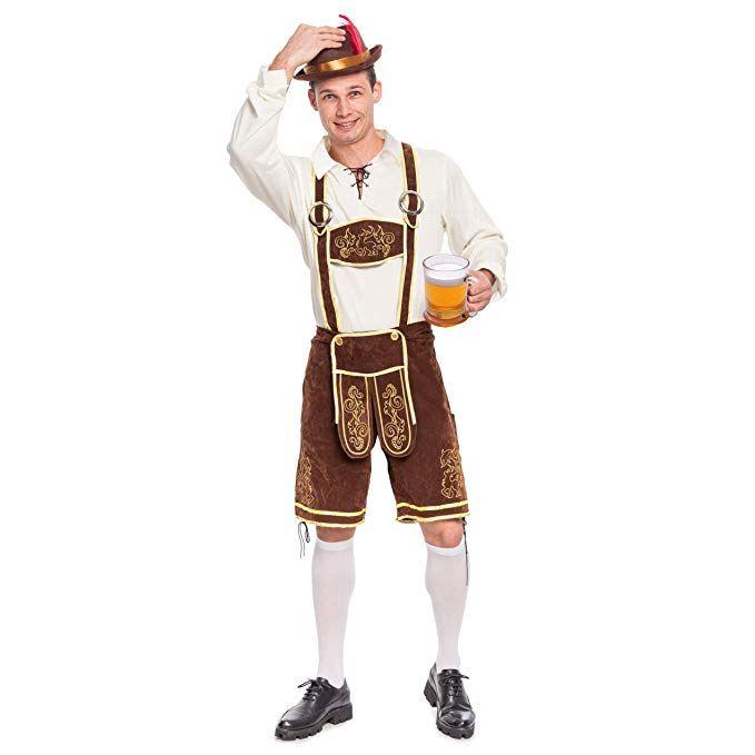 73ce3e79f Mens German Bavarian Oktoberfest Costume Set for Halloween Dress Up Party  and Beer Festival #halloween #gift