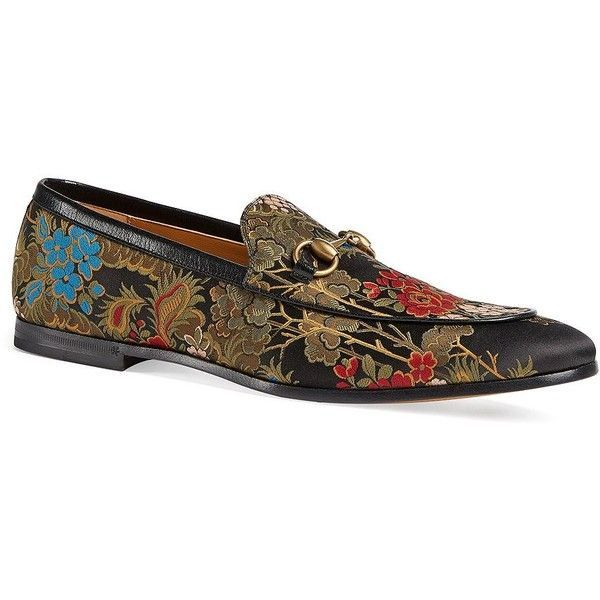 142d58cb452 Gucci New Jordaan Print Leather Loafers (€720) ❤ liked on Polyvore  featuring men s