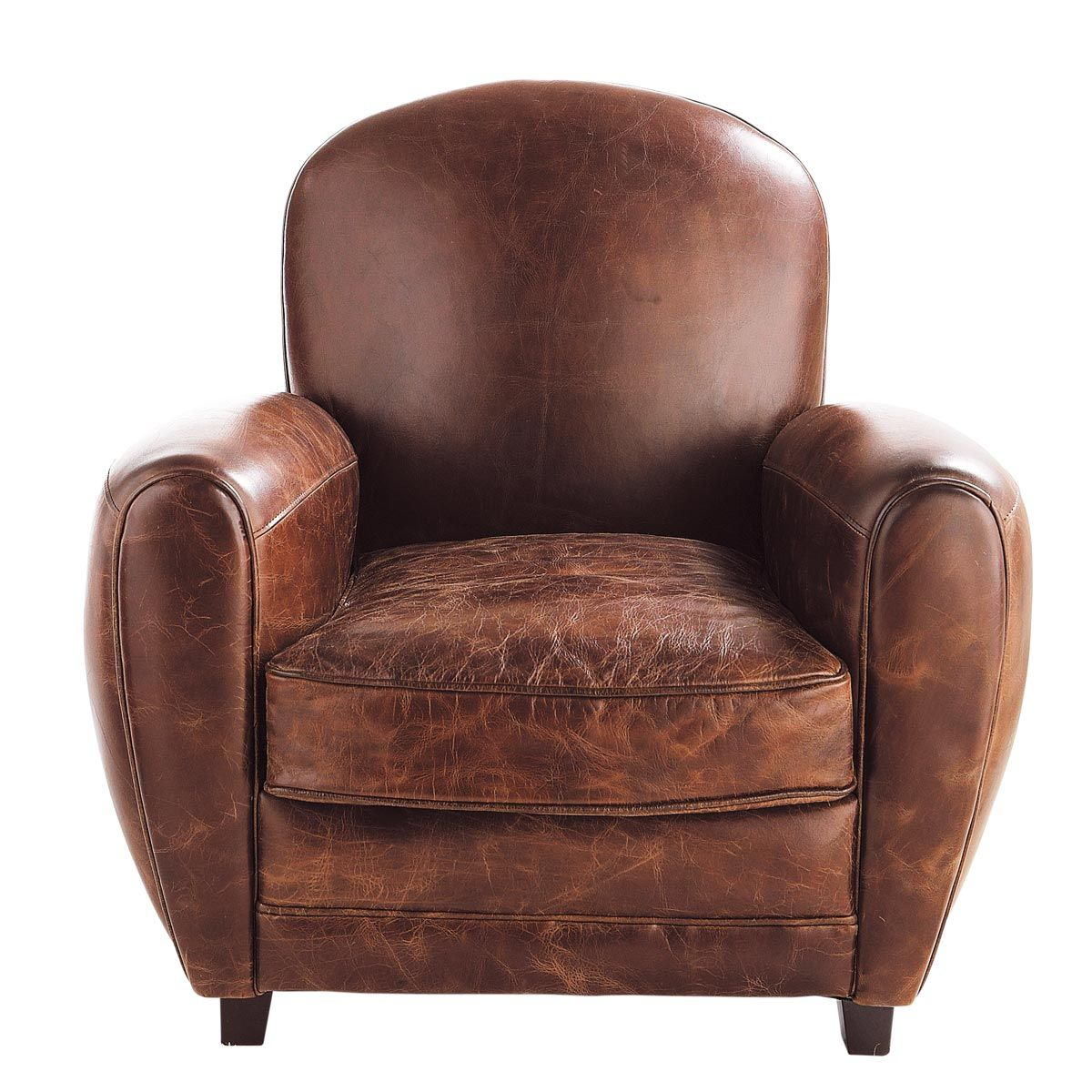 Poltrona Club Vintage.Poltrona Club Marrone In Cuoio Home Sweet Home Armchair