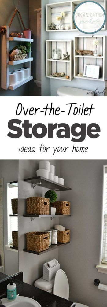 Photo of Over-the-Toilet Storage Ideas for Your Home • Organization Junkie