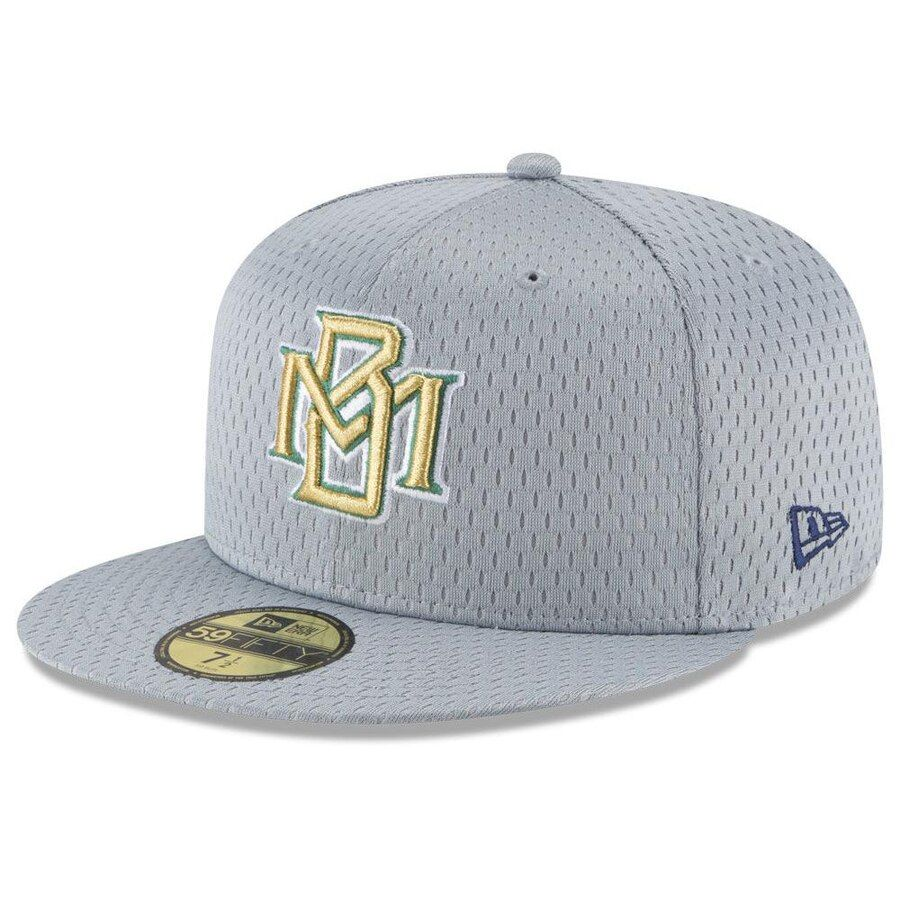 wholesale dealer 12fde ec09c Milwaukee Brewers New Era MLB Batting Practice Mesh 59FIFTY Cap - Gray,  Your Price