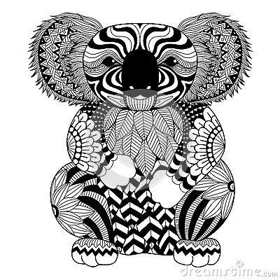 Google Images Koala Tattoo Zentangle Koala