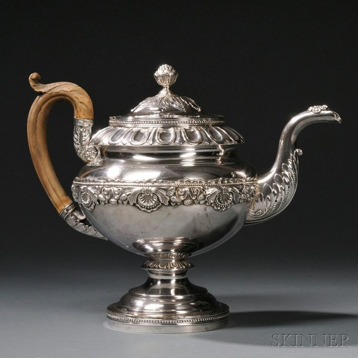 Late Federal Period Coin Silver Teapot | Sale Number 2663B, Lot Number 24 | Skinner Auctioneers