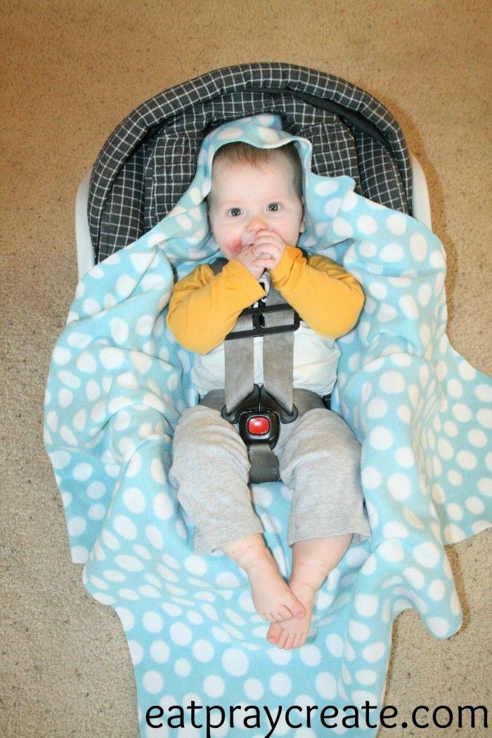 DIY Easy Car Seat Blanket Tutorial - Eat Pray Create   sewing ...