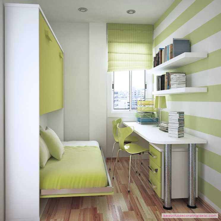 Bedroominspirations contemporary floating desk for small space design ideas kids room light green and