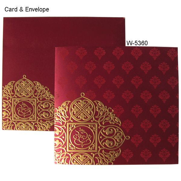 Ceremony With Various Amazing Flavored Indian Invitation Cards