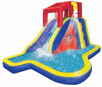 Kohl S Banzai Splash Blast Water Slide As Low As 148 49 After Coupon Kohl S Cash Banzai Water Slide Water Slides Inflatable Water Slide