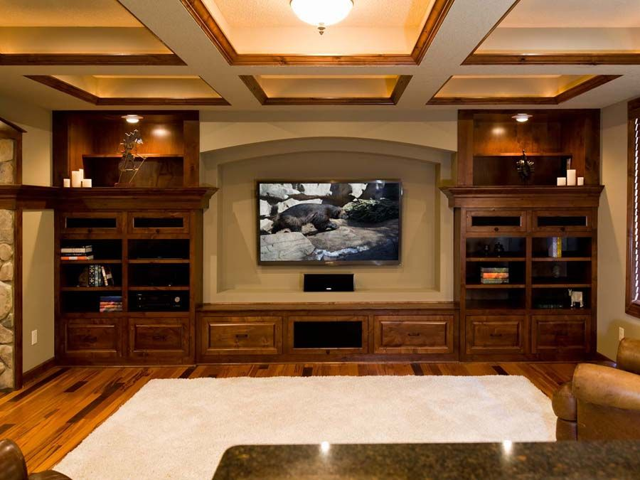 Elegant Entertainment Basement Ideas