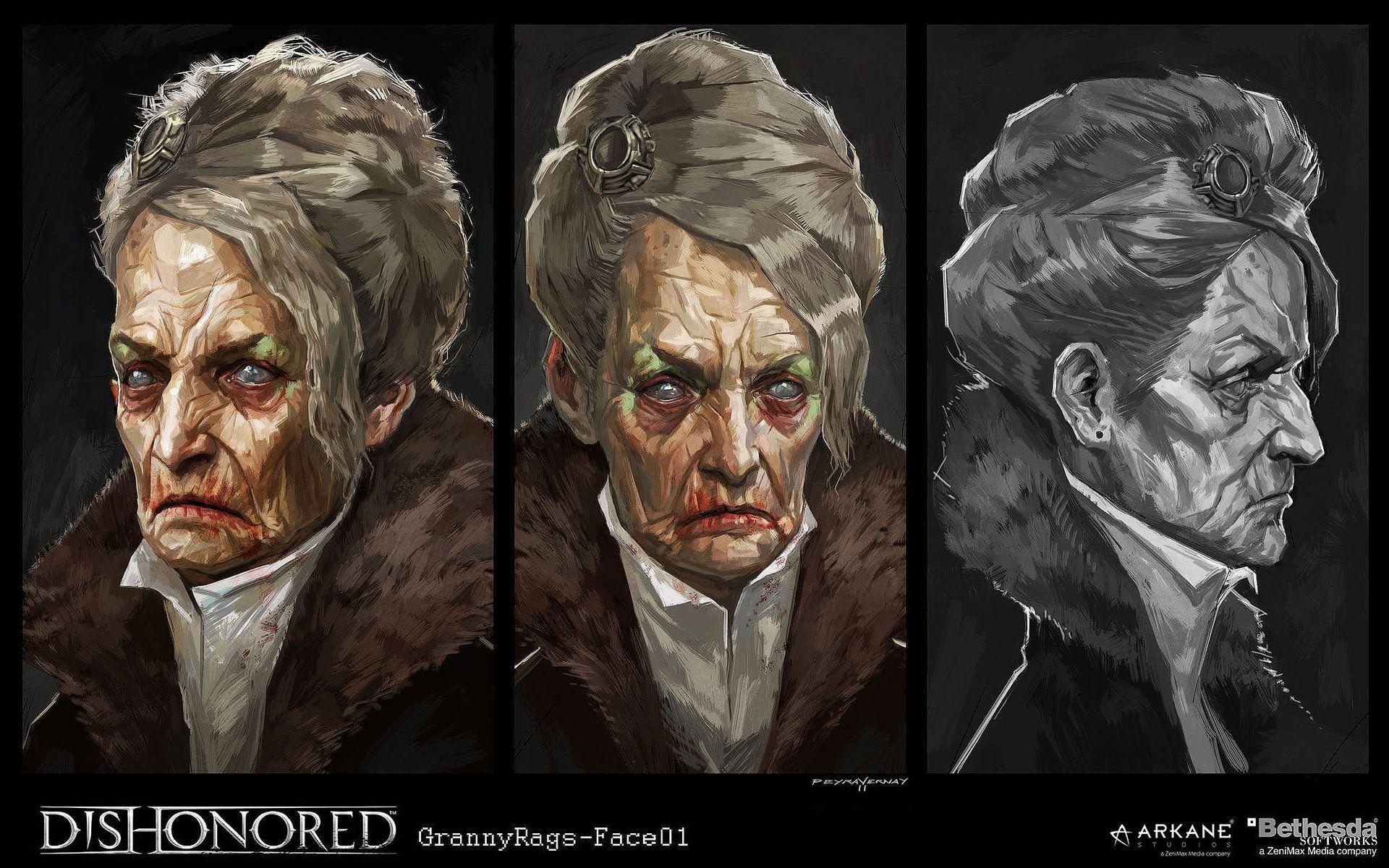 artstation dishonored grannyrags01 cedric