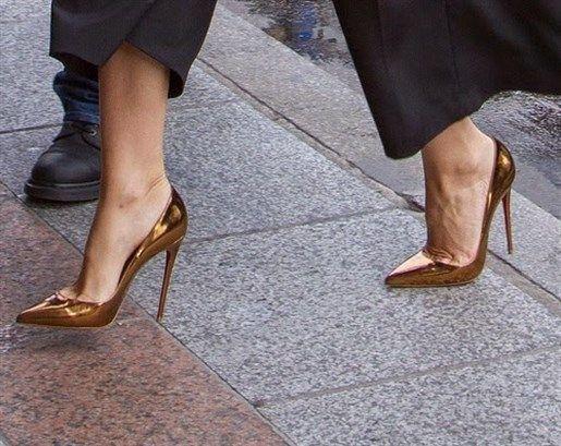 Copper Color Stiletto Shoes Trends Bakır Renk Stiletto Ayakkabı