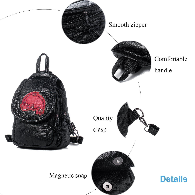 9ae52b3ef2 Convertible · Pockets · Backpacks · Katloo Mini Backpack Purse Vegan Leather  Casual Daypack Shoulder Back Pack Sling Bag for Women iPad