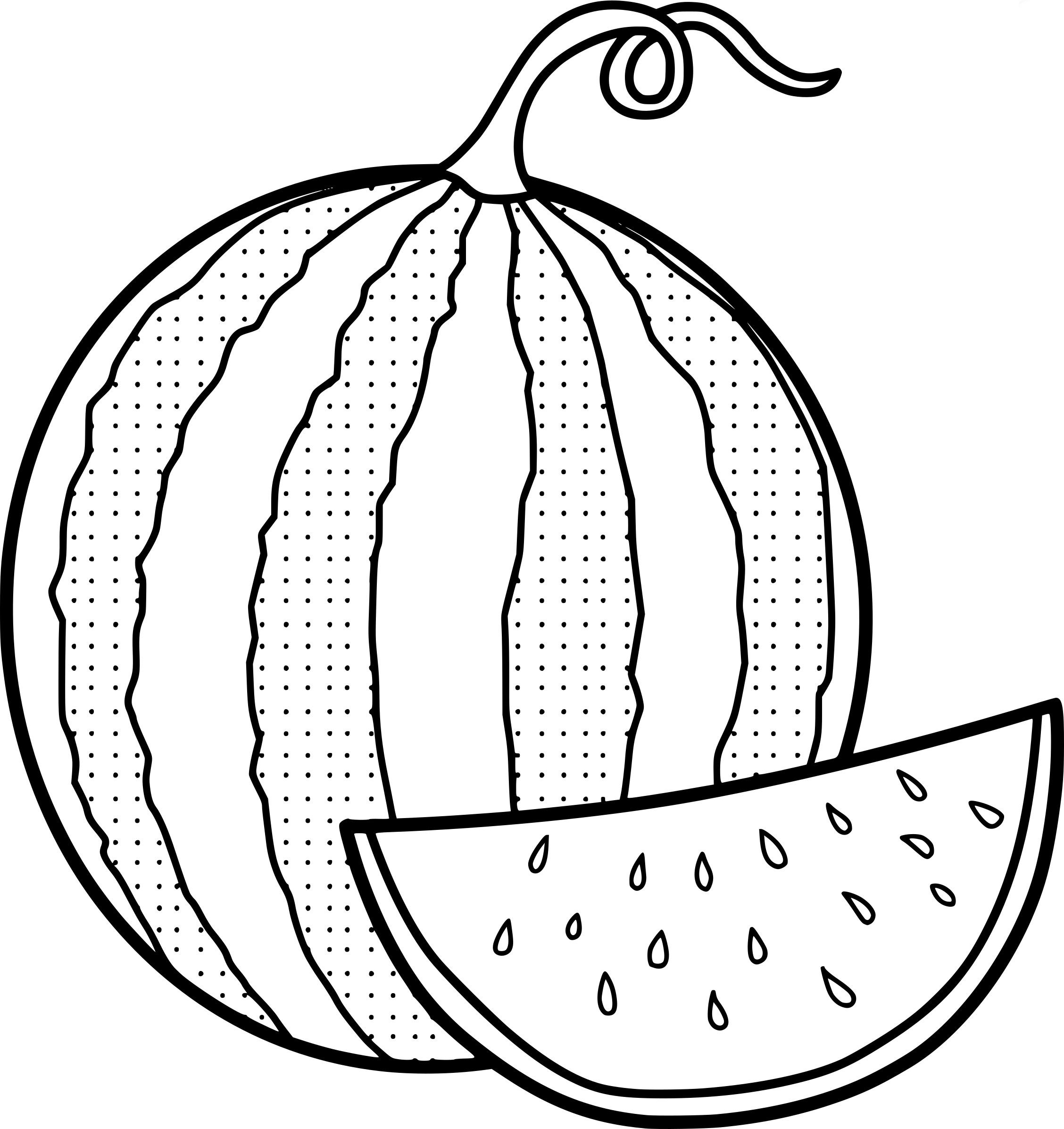 Coloring Pages Watermelon Fruit Coloring Pages Coloring Pages