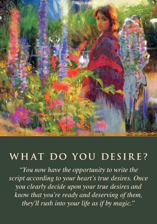 Daily Angel Oracle Card Celebration From The Guardian: Oracle Card What Do You Desire?