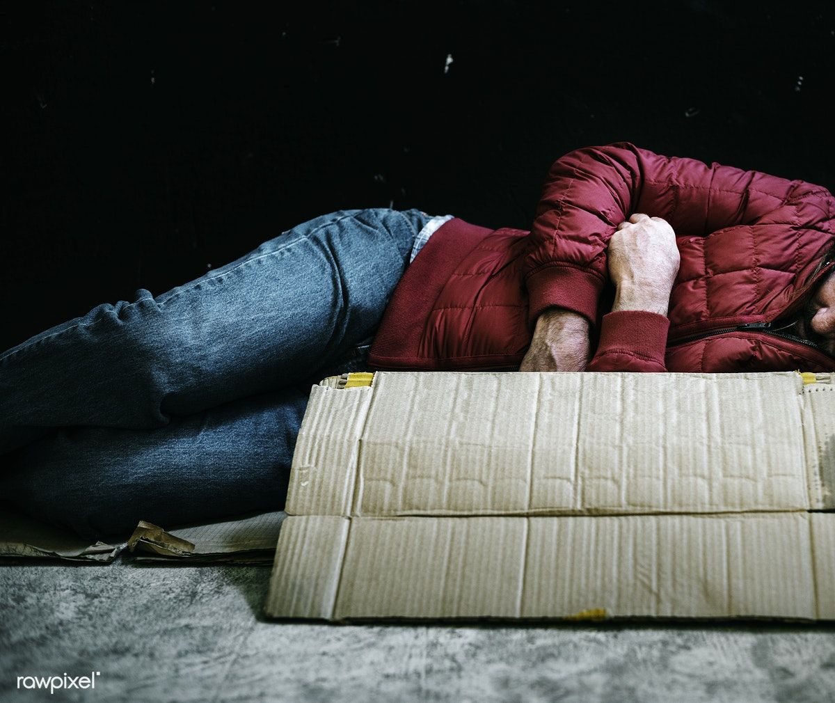Download Premium Image Of Homeless Man Sleeping Out In The Cold 50405 Homeless Man Homeless People Homeless