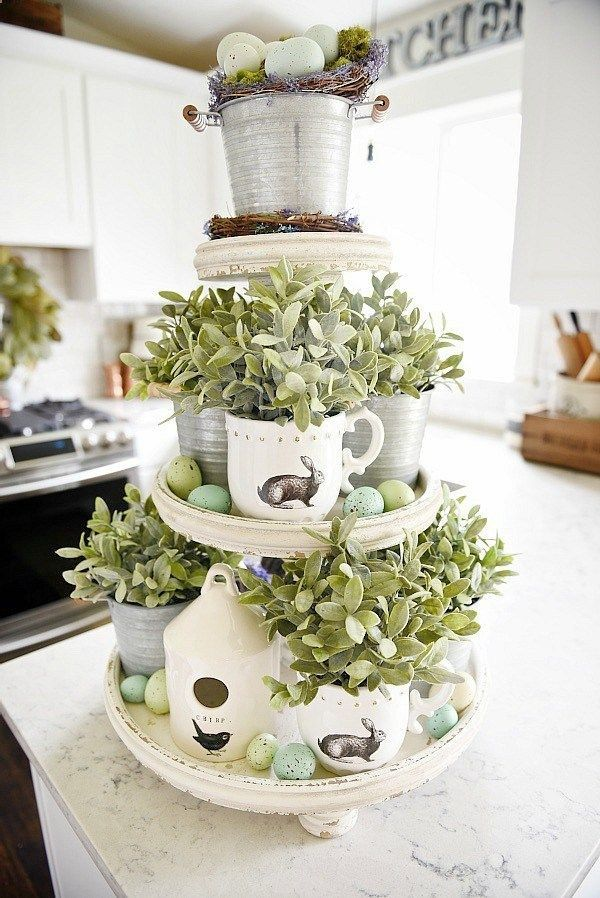 spring tiered tray spring cottage kitchen decor a must pin for