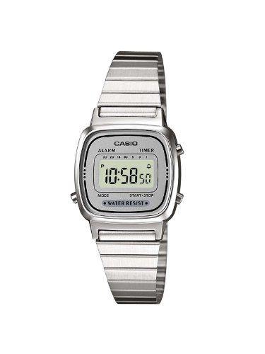 f4f507eb4 Casio LA670WEA-7EF - Reloj digital de cuarzo para mujer con correa de acero  inoxidable