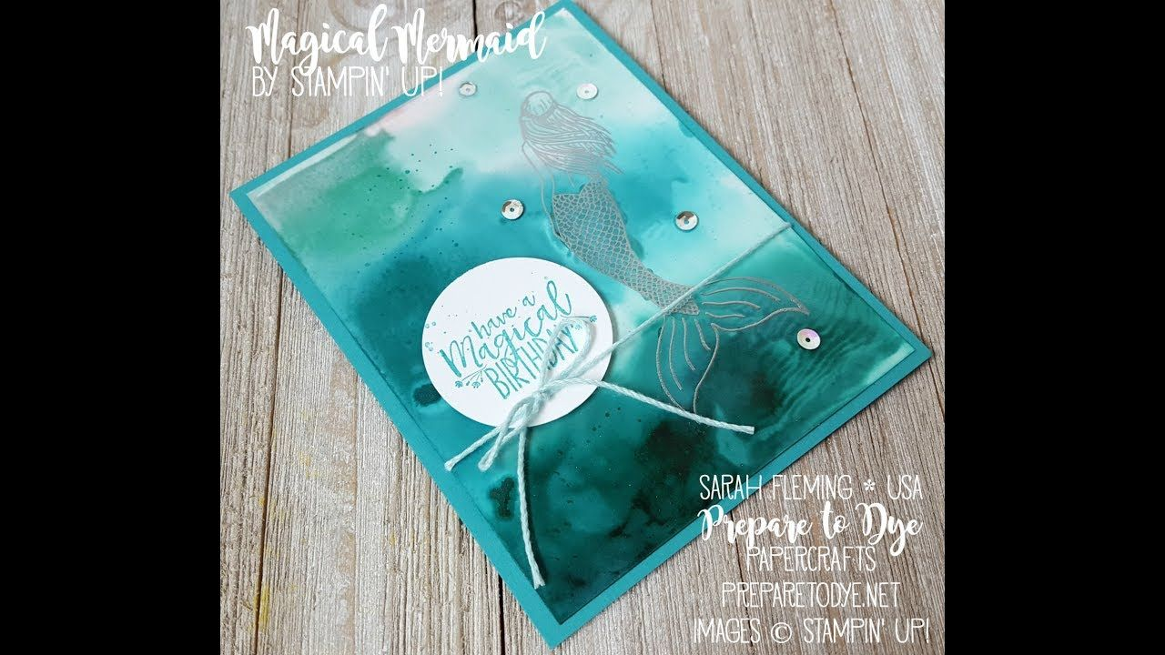 Facebook Live 6 19 17 Magical Mermaid Card With Glossy Cardstock