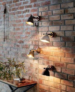 wandleuchte industrie, wandleuchte rustikal, wandlampe