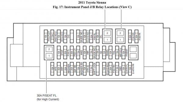Cigarette Lighter Fuse Location   Diagram   Toyota avensis ... on