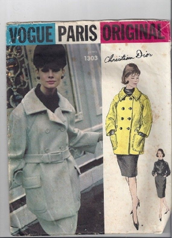 Vogue Paris Originals Sewing Clothing Pattern Designed by Christian ...