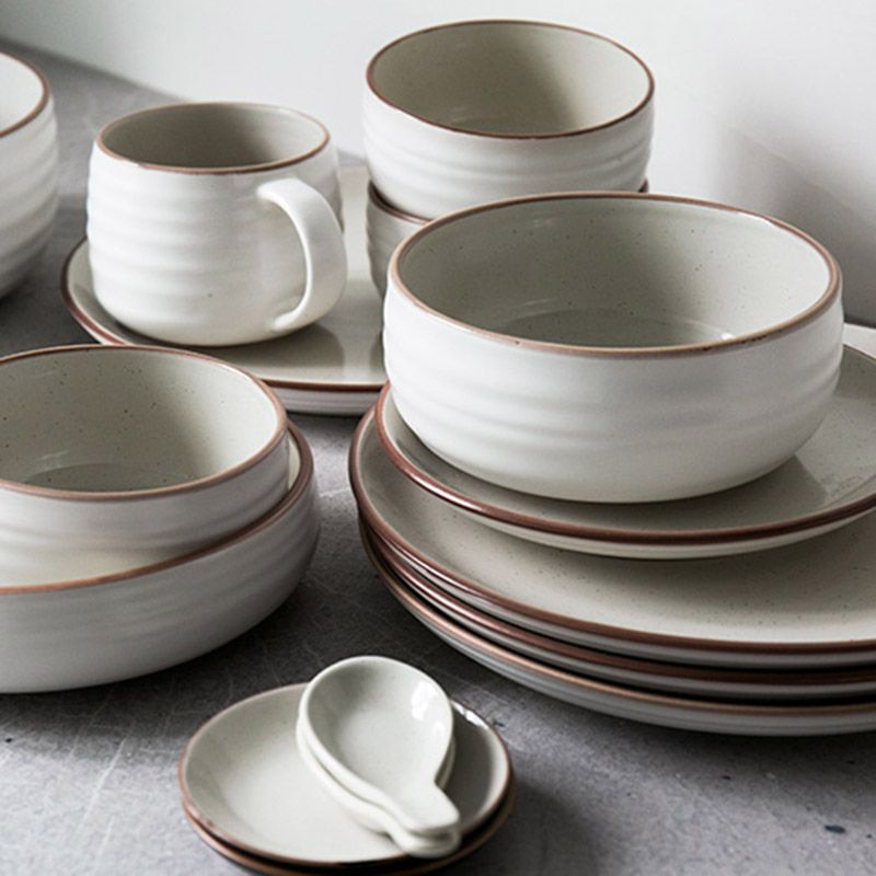 12pcs/set Ceramic bowl plates dinnerware sets kitchenware rice bowl mug dishes salad bowl plates & 12pcs/set Ceramic bowl plates dinnerware sets kitchenware rice bowl ...