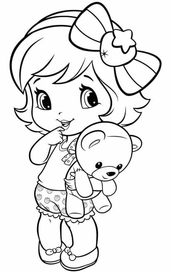 Coloring Pages - Little Girl | arte | Pinterest | Girls, Coloring ...