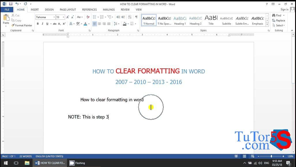 Eps17 4 fastest ways to clear formatting in microsoft