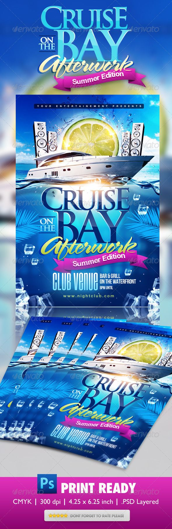 Summer Boat Cruise Party Flyer Projects To Try Pinterest Party