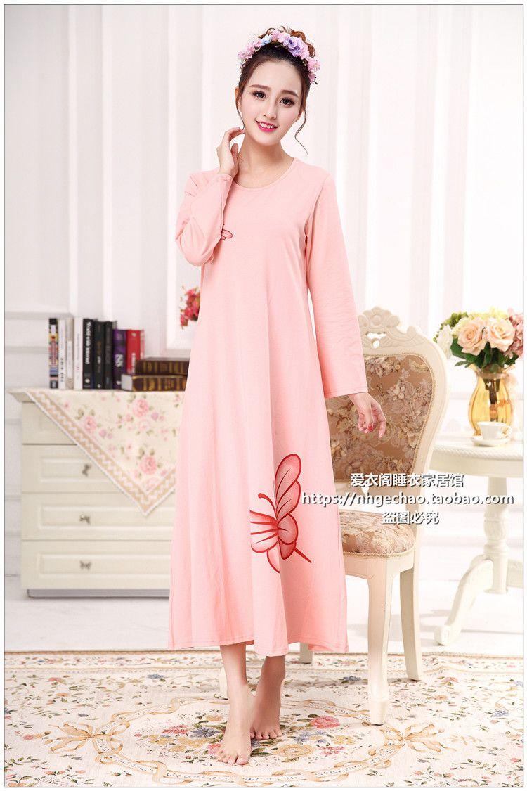 Plus Größe Für Frauen Baumwolle Nachthemd Schlaf Kleider ...