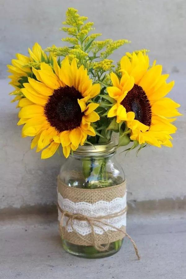 18 Cheerful Sunflower Wedding Centerpiece Ideas – Page 2 of 2